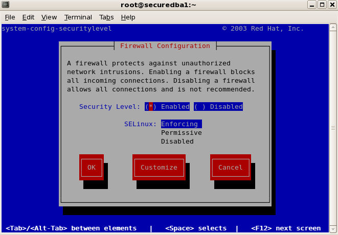 System-config-securitylevel